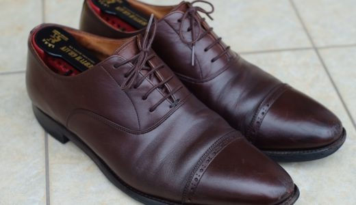 スコッチグレインの革靴を修理に出しました。(ソール交換など)