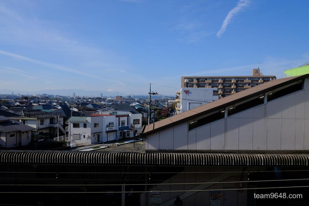 府中本町駅 富士山