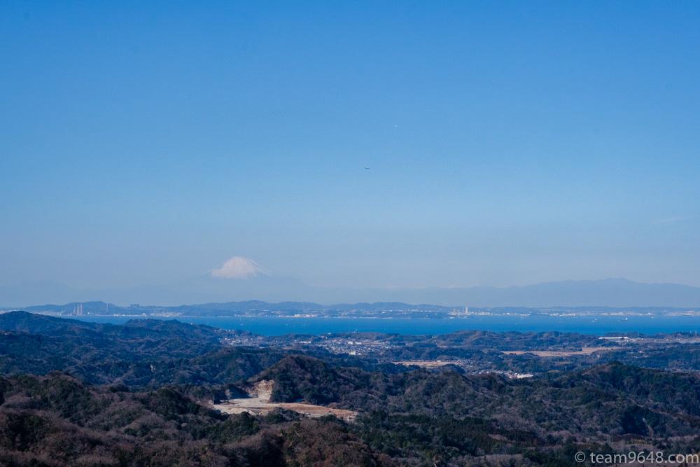 高宕山 山頂 富士山