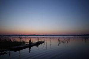 印旛沼の朝日