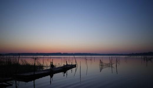 RICOH GR3で撮る風景の作例。印旛沼の朝日を撮ってきた。(イメージコントロール:スタンダード)