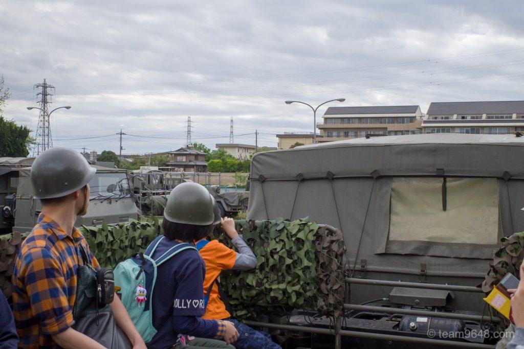 下志津駐屯地 つつじ祭り トラック体験搭乗