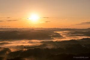 鹿野山九十九谷公園の雲海